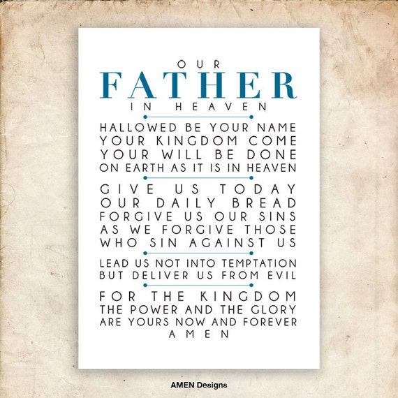 Modest image in printable copy of the lord's prayer