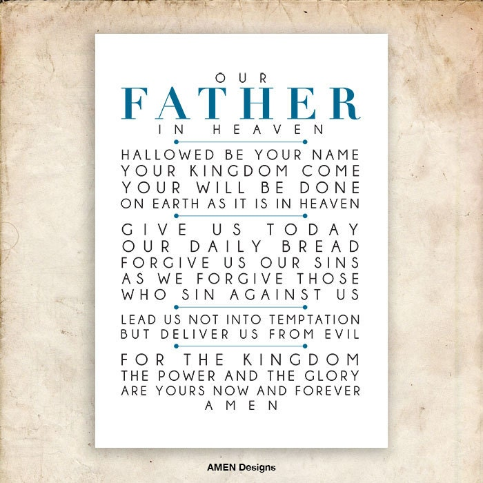 It's just a graphic of Eloquent The Lord's Prayer Printable