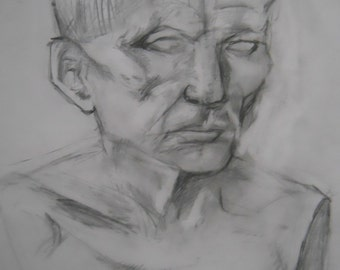 16x20 bust study drawing