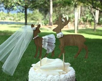 Popular Items For Deer Wedding Cake Topper On Etsy