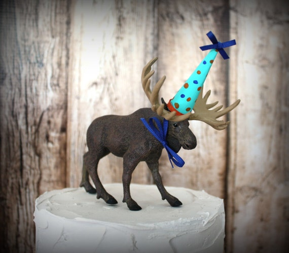 Items Similar To Happy Birthday Moose Cake Topper Moose