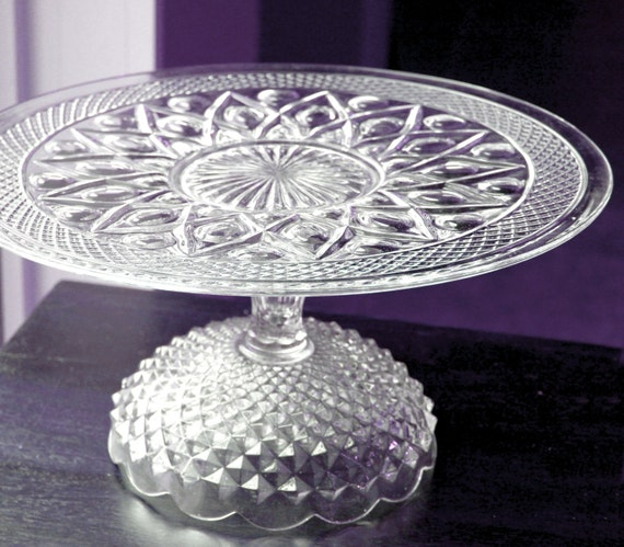 """Glass Cake Stand in 16"""""""