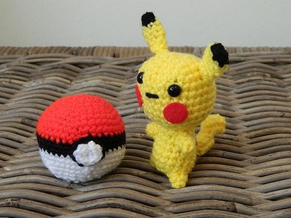Pikachu En Amigurumi : Articles similaires ? Pikachu Pokemon softie Nintendo du ...
