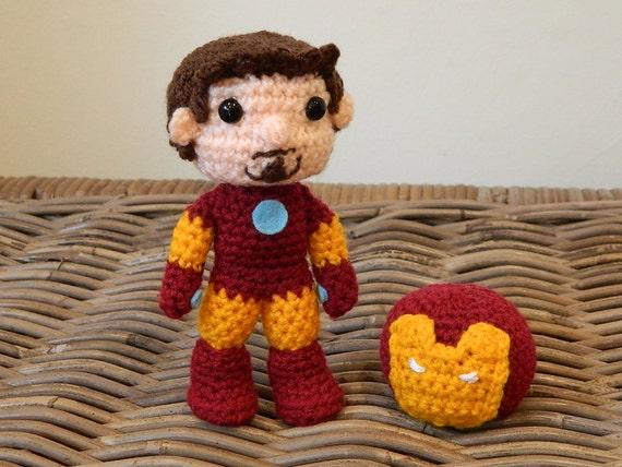 Iron Man Amigurumi Free Pattern : Iron Man Tony Stark crochet amigurumi chibi by ...