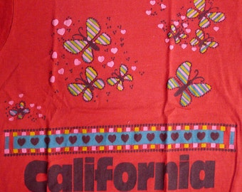 Vintage 80s California Red T Shirt