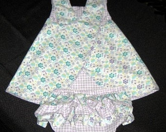 Baby Pinafore and Ruffled Diaper Cover