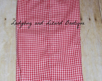 Girl's Ruffle Lined Gingham Pants Size 12M-18M, 2T-5T, 6