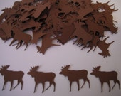 Moose Paper Confetti - 100 pieces - Brown or Your Choice Of Colors