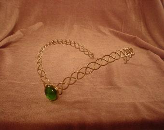 Simple Gypsy Diadem Circlet Green.