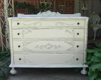 Beautiful Antique Dresser Shabby Chest Shabby Chic Furniture Painted Furniture Bedroom FOR CUSTOM ORDER
