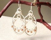 COPPER KNUCKLES - Coil Wrapped Silver Earrings