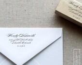 Wedding Invitation Stamp. Custom Address Stamp. Formal Script, Wood or Self-Inking, Style 12. Personalized Return Address Stamp for Invite.
