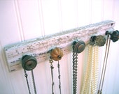 Jewelry Organizer / Neutral Knobs on Reclaimed Moulding