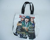 Rolling Stones Magazine Bag AC/DC Rock and Roll Grocery Beach Fashion Purse Tote