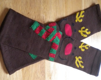 Baby Legwarmers Reindeer Face Christmas/Holiday