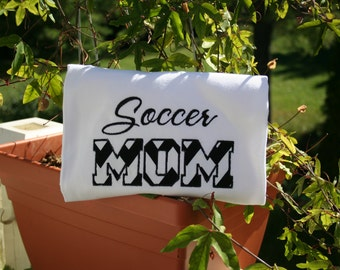 SAMPLE SALE Soccer Mom T-Shirt - Soccer Mom Shirt - Soccer Mom - Mom Shirts - Soccer Shirts - Soccer Mom Clothing - Custom T-Shirts