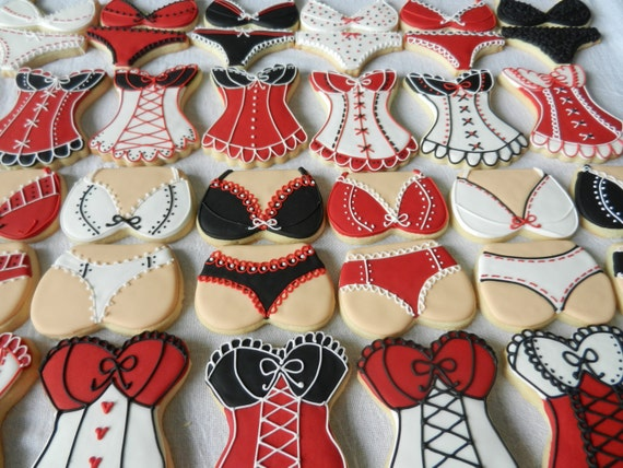 Lingerie Party Pack Cookies- 36 total cookies for your bachelorette party or shower (#2339)