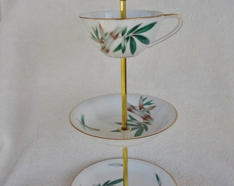 Vintage Noritake Canton China Plates, China Stand, Jewelry Stand