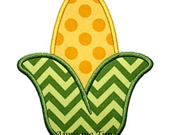 Instant Download Corn Cob Machine Embroidery Applique Design 4x4, 5x7 and 6x10