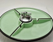 Plastic Mad Men Style 1960s Ashtray Lighter Set