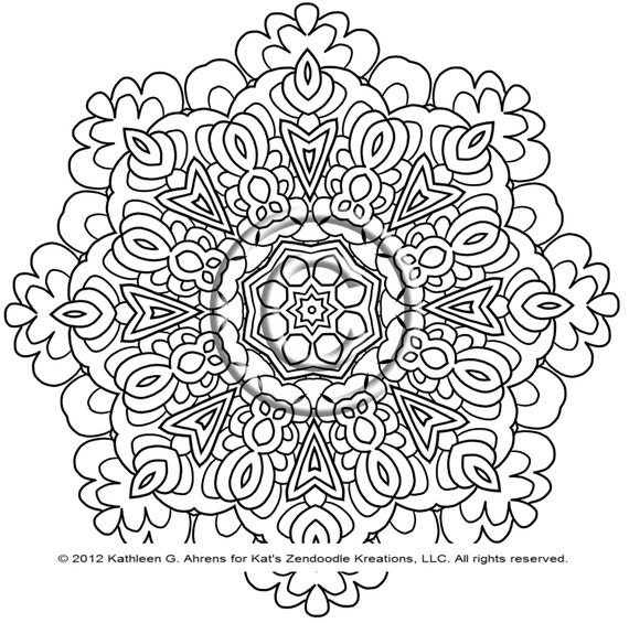 kaleidoscope coloring pages to print - photo #35