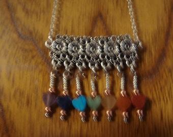 Genuine Stone Hearts Copper Chakra Pendant 2 Altar Healing Alignment Tool