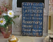 Lavender Herb Sign/Print for Dollhouse