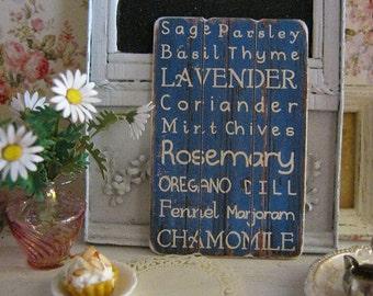 Lavender Herb Sign/Print for Dollhouse