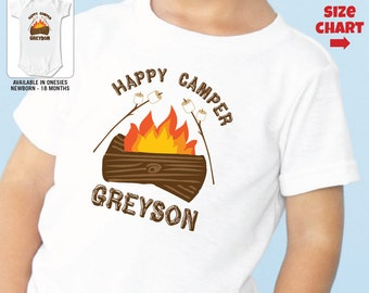 Happy Camper Shirt or Bodysuit - Personalized Camp Shirt
