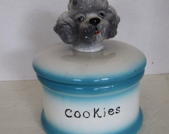 Ceramic Poodle Cookie Jar