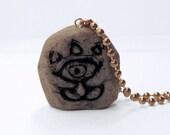 Zelda Necklace, Gossip Stone, Polymer Clay, Genya or Ball Chain
