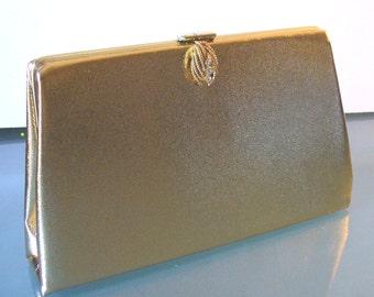 Vintage Gold Clutch Bag By Harry Levine HL