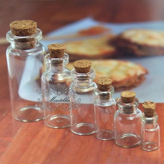15 st ck kleine klarglas r hrchen kleine flaschen mini leer. Black Bedroom Furniture Sets. Home Design Ideas