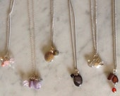 DELIGHT pendant with a cute bunch of semiprecious stones (different combinations)