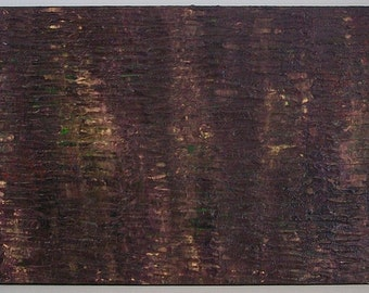 It's Complicated Purple Gold Metallic Textured 12x36 1x3 Abstract Acrylic Painting