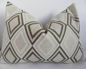 14x20 Pillow cover, Beige pillow, Pillow lumbar, Geometric beige pillow, Brown pillow, Decorative lumbar, Brown pillow cover