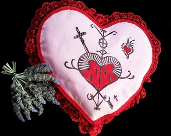 Valentine Voodoo Love Charm Pillow Spell Kit