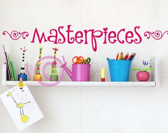 Masterpieces with two swirls - Vinyl Wall Art