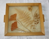 Vintage Pressed Leaf Serving Tray - cocoandcoffeevintage