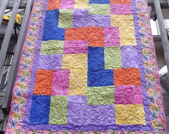 Cute, Bright, Girly Daisy Quilt