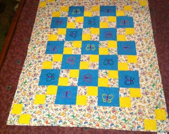 Reversible Butterfly Quilt