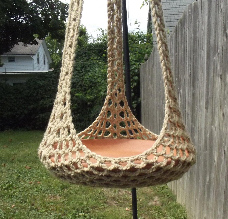 Plant Hanger/Bird Feeder Indoor Outdoor Crochet by CraftCoalition