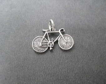 Sterling Silver BICYCLE Charm - Add On Charm