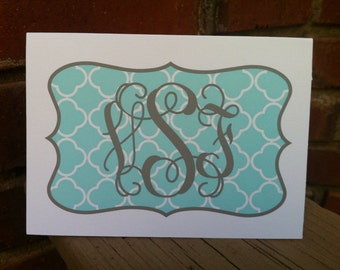 Personalized Monogrammed Notecards