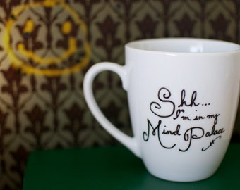 Sherlock Mind Palace Hand Painted Mug