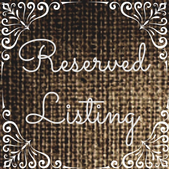 Reserved Listing for Nic