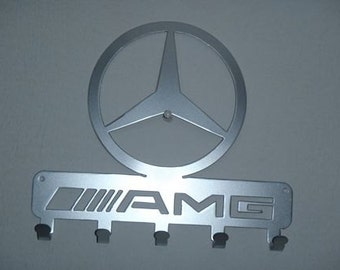 Key Rack Mercedes Metal Art