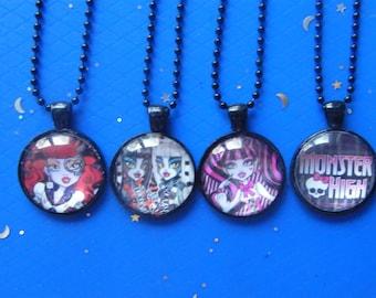 Monster Pendants! Monster Teens, Glass Case, Pendants! Girls Gifts, Tween Gifts, Teen Gifts, Birthday Gifts, Hanukkah Gifts, Christmas Gifts
