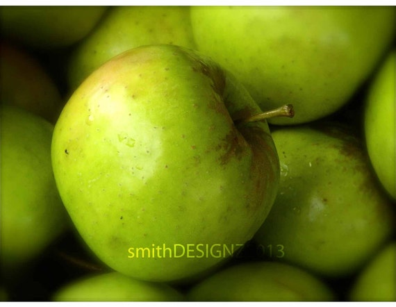 Green apple photography photography kitchen decor apples - Green apple kitchen decor ...