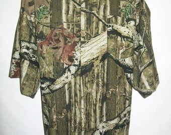 CAMP Clerical Woodland Camo shirt, all cotton, Made to order select size of choice. Collar choice TAB or FullBand Ready. Untucked style